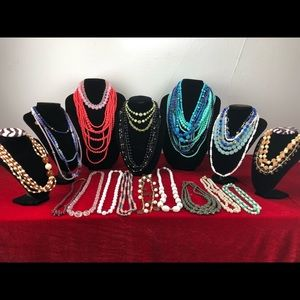 Lot Of Lucite Necklaces Beaded